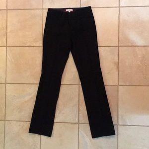 Banana republic black straight leg trousers